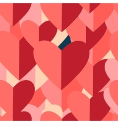 Graphic pattern of red hearts vector image