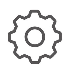 grayscale contour with gear wheel vector image vector image