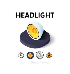 Headlight icon in different style vector