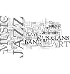 Jazz music legend art blakey text background word vector