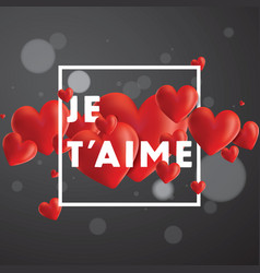 Je taime background vector