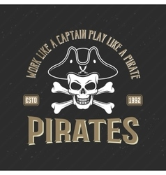 Logo Of Pirates Print vector image vector image