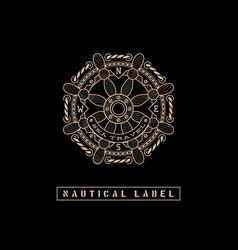 Nautical label vector