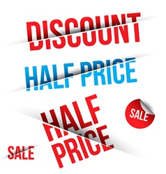 SALE cut on Black and White background vector image