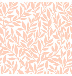 Seamless pattern with leaves theme corals vector