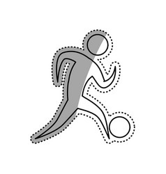 Sport game abstract man silhouette vector