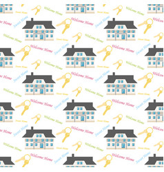 Sweet home pattern vector