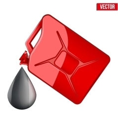 Symbol of petroleum black drop and jerrycan vector image