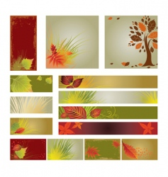 web design banners vector image vector image
