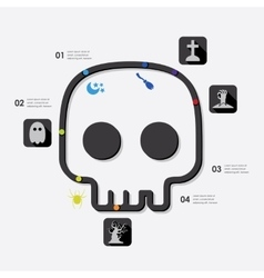 Halloween infographic vector