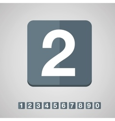 Number set flat design vector