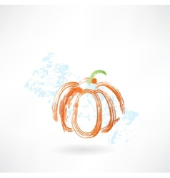 Pumpkin grunge icon vector