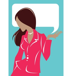 business woman cards vector image