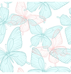 Seamless background with bright colorful butterfli vector