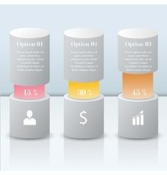 3d infographic modern bars vector