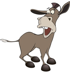 Little burro cartoon vector