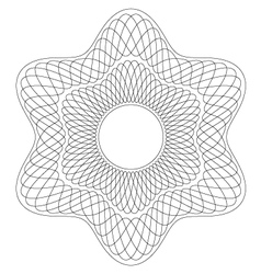 Six points guilloche pattern vector