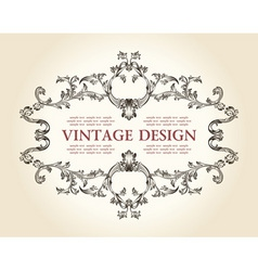 Vector vintage royal old frame ornament decor text vector