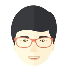 Asian face vector