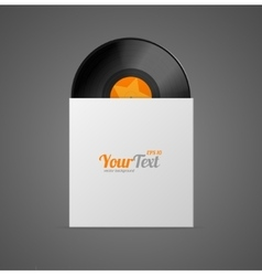 Vinyl record in paper case vector