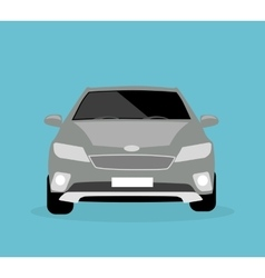 Car icon flat vector