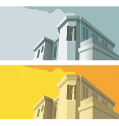 old-fashioned building vector image