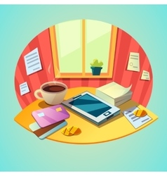 Business workplace concept vector