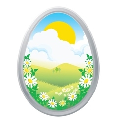 Easter eggs in the grass spring vector