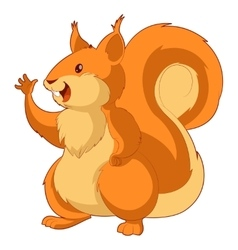 Cartoon smiling squirrel vector