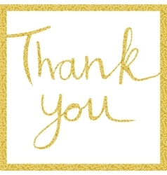 Thank you lettering in gold vector