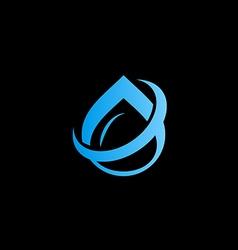 Water drop aqua abstract logo vector