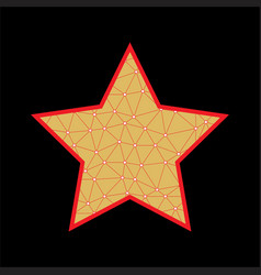 Abstract star icon vector