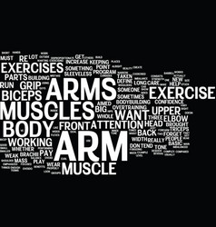 Arm exercise text background word cloud concept vector