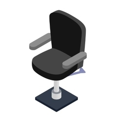 Armchair hairdresser isometric 3d icon vector image