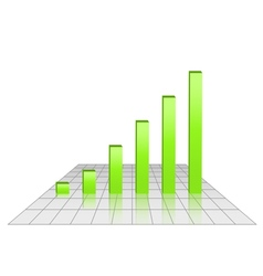 Bar chart of rising profits vector image