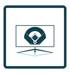 Baseball tv translation icon vector image