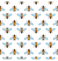 Bee seamless pattern for textile design wallpaper vector