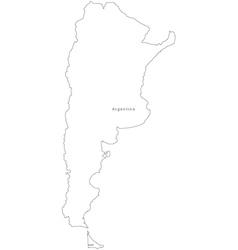 Black white argentina outline map vector