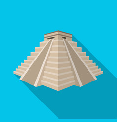 chichen itza icon in flat style isolated on white vector image