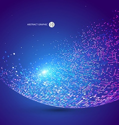Colorful dots abstract sphere science and vector