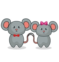 Cute mouse stuffed icon vector