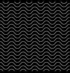 Dark seamless texture horizontal thin wavy lines vector