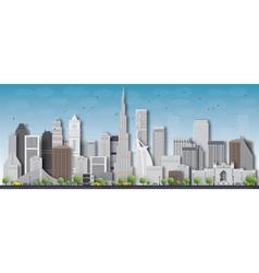 Dubai 3d city skyline vector
