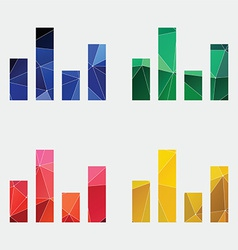 equalizer icon Abstract Triangle vector image vector image