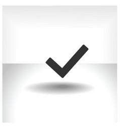 Flat icon check vector