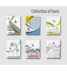 Flyer poster design vector