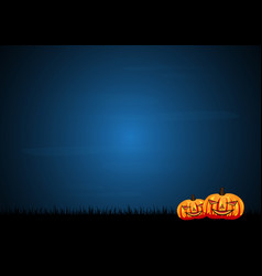 halloween pumpkin graveyard grass vector image vector image