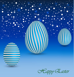 Happy Easter Background with a blue Egg vector image