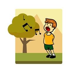 Kids activity sing vector