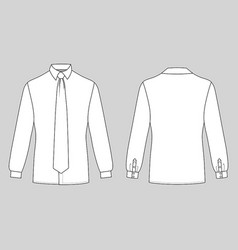 long sleeve man shirt tie vector image vector image